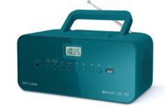 Groene Muse Electronics Muse M-30 BTB - Draagbare Radio/CD-speler met USB en bluetooth - blauw