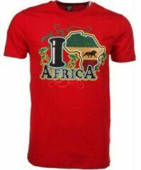 Rode T-shirt Korte Mouw Mascherano T-shirt I Love Africa