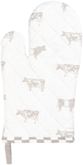 Naturelkleurige Clayre & Eef Ovenwant LWC44N 16*30 cm - Beige 100% Katoen Ovenhandschoen Keukenhandschoenen