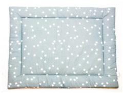 Groene Briljant Baby Spots boxkleed - 80x100 cm - stone green