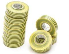 Nitto - Isolatietape - Groen/geel - 19 mm X 20 M - (10 st.) [1045-VJPC]