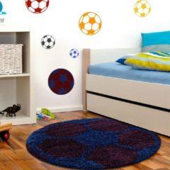 Adana Carpets Rond Hoogpolig vloerkleed - Fun Blauw Ø 120cm