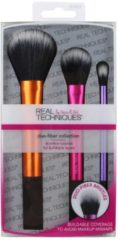Real Techniques Original Collection Base Duo-Fiber Collection Duo-Fiber Eye Brush + Duo-Fiber Face Brush + Duo-Fiber Contour Brush 1 Stk.
