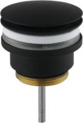 Saniselect Wastafelplug Altijd Open 5/4 inch. Mat Zwart