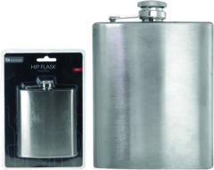 Zilveren CT ComfortTrends Fles Heupfles RVS - Inhoud: 200 ml