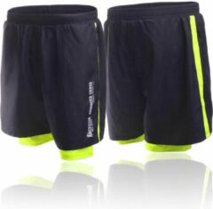 Zwarte Boxeur Des Rues Short In Poly With Short Inside To Contr-black