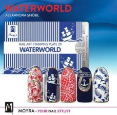 Blauwe Moyra Stamping Plate 29 - Waterworld