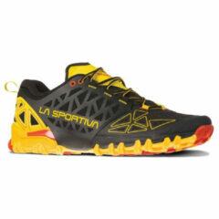 La Sportiva - Bushido II - Trailrunningschoenen maat 43, zwart/oranje/olijfgroen/bruin