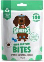 Denzel's Bites - 100% natuurlijk - Spinazie, kikkererwten en kip