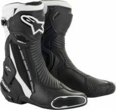 Beige Alpinestars SMX Plus V2 Black White Motorcycle Boots 44