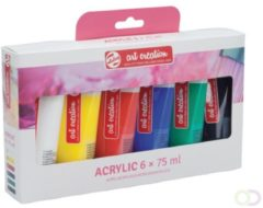 Talens Art Creation Acrylverf Tube Van 75 Ml, Set Van 6 Tubes In Geassorteerde Kleuren