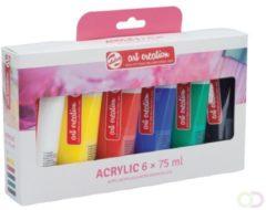 Talens Art Creation Acrylverf Tube Van 75 Ml, Set Van 6 Tubes In Geassorteerde Kleuren