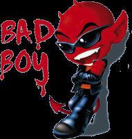 Avisa Autostyle Autosticker Bad Boy 12 X 11 Cm Rood/zwart