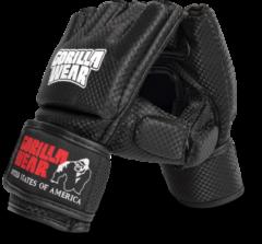 Gorilla Wear Manton MMA Handschoenen (Met Duim) - Zwart/Wit