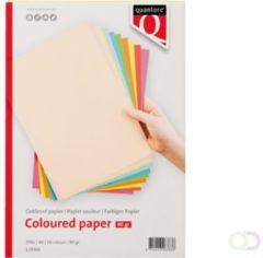 Gekleurd papier Quantore A4 80gr 10 kleuren 250vel