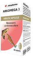 Arkopharma Arkocapsule Arkomega 3 benessere cardiovascolare 50 capsule