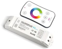 Witte RGBW LED CONTROLLER - MET RF-AFSTANDSBEDIENING