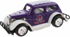 Toi Toys BV Hot Rod Auto Metal Pull Back (Paars) 9 cm Toys - Modelauto - Schaalmodel - Model auto - Miniatuur auto - Miniatuur autos
