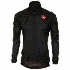 Zwarte Castelli - Squadra ER Jacket - Fietsjack maat L zwart