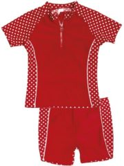 Rode Playshoes UV Play Shoes - Zwemveiligheid Zwempakje Dots - Rood - 74/80