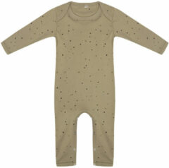 Little Indians Jumpsuit Dots Junior Katoen Groen/zwart Maat 56