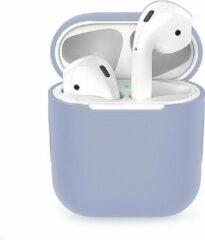Merkloos / Sans marque Siliconen Bescherm Hoesje Cover Lila-Grijs (Paars) voor Apple AirPods 1+2 Case