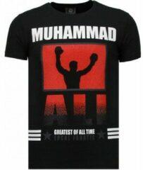 Local Fanatic Muhammad Ali - Rhinestone T-shirt - Zwart Muhammad Ali - Rhinestone T-shirt - Groen Heren T-shirt Maat XL