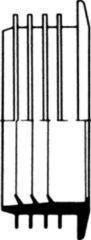 Wisa kunststof valpijpverbinder voor laaghangend reservoir, wit