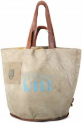 Mycha Ibiza - tas - Talamanca Stay wild 1049 - strandtas - shopper - clutch - lederen hengsels