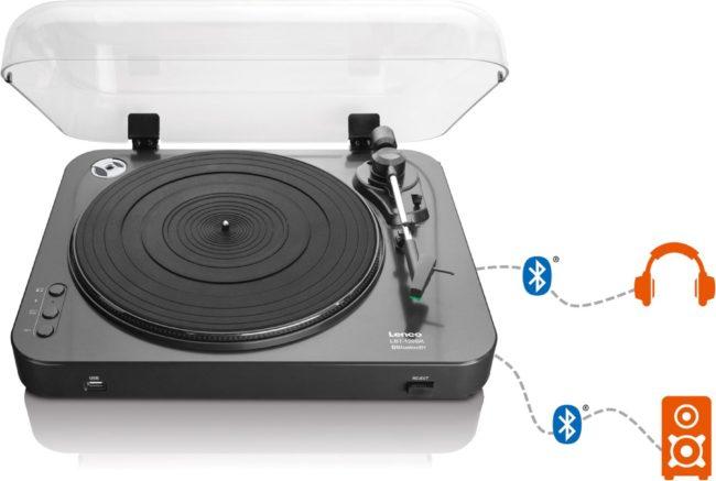 Afbeelding van Lenco LBT-120 - Platenspeler met Bluetooth en directe MP3 codering - Zwart