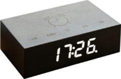 Gingko Wekker - Alarmklok Flip Click Clock Zwart - oplaadbaar