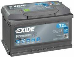 EXIDE EA722 Premium Carbon Boost 12V 72 Ah 720A Autobatterij 3661024034289