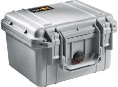 Peli Case - Camerakoffer - 1300 - Zilver excl. plukschuim 25,10 x 17,80 x 15,50 cm (BxDxH)