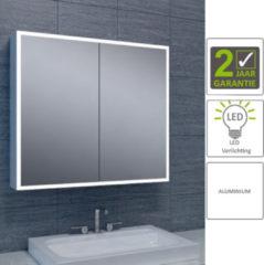 Boss & Wessing BWS LED Spiegelkast Aluminium Quatro Met Rand Verlichting 80x70x13 cm