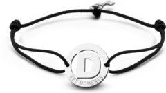 Zilveren Key Moments 8KM-A00004 - Armband met stalen letter D en sleutel - one-size - zilverkleurig