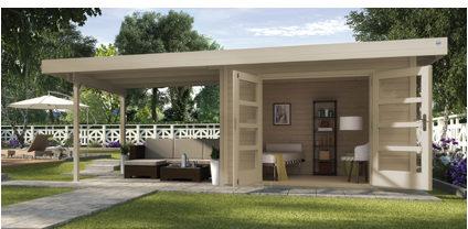 Afbeelding van Blokhut | Designhuis 126B Gr.1 | 590 x 240 | WEKA