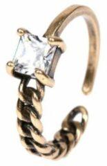 Fashion Jewelry Half chain ring   brons gekleurd