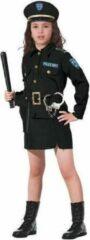 Zwarte Komedia Politie kostuum meisje - Maatkeuze: Maat 152