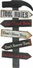 Zwarte Signs-USA Tool Rules - Gereedschap - Retro Wandbord - Metaal