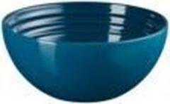 Blauwe LE CREUSET - Aardewerk - Snackschaaltje Deep Teal 12cm