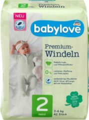Babylove Premium luiers - maat 2 - Mini - 3-6 kg (42 stuks)