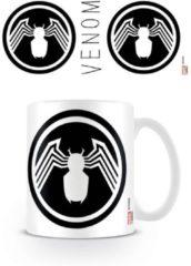 Witte Marvel Venom Symbiote Symbol - Mok