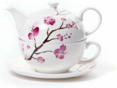 Shamila Tea for one set kersenbloesem - Cherry Blossom- Theeset - Poreselein