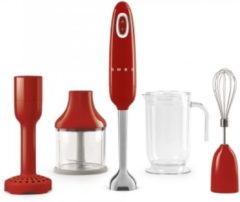Smeg 50's Style staafmixer met accessoires - rood