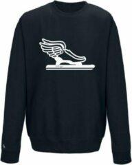 Blauwe Schaats sweater lange baan Pattinaggio