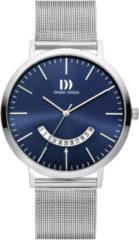 Zilveren Danish Design watches edelstalen herenhorloge Morsø Blue Mesh IQ68Q1239