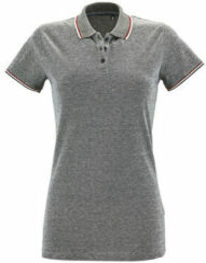 Grijze Polo Shirt Korte Mouw Sols PANAME CITY WOMEN