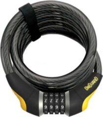 Zwarte Onguard kabelslot Terrier glowing combo code 10 x 180 grijs