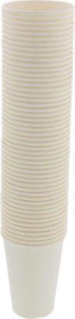 Afbeelding van Witte NAKIRA Kartonnen Bekers Voordeelpak (50 stuks) - Koffie Bekers - 200 ml - Kartonnen koffiebekers - Soep Bekers - Limonade Bekers - Feestjes - Festival - Vakantie - Milieuvriendelijk - Hoogwaardige Kwaliteit Papieren Wegwerp Bekers