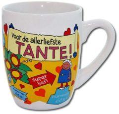 123 Kado koffiemokken Cartoonmok Tante